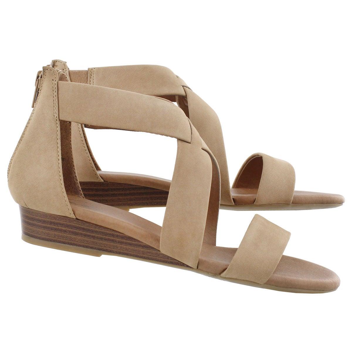 Sandale mousse visc Emilia 2, sable, fem