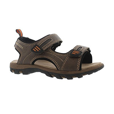 SoftMoc Boys' EMMETT brown 2 strap sport sandals