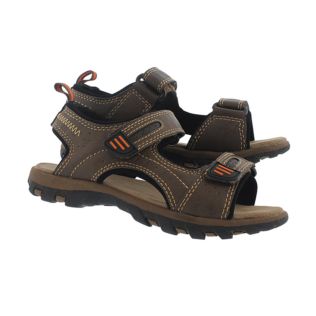 Bys Emmett brown 2 strap sport sandal