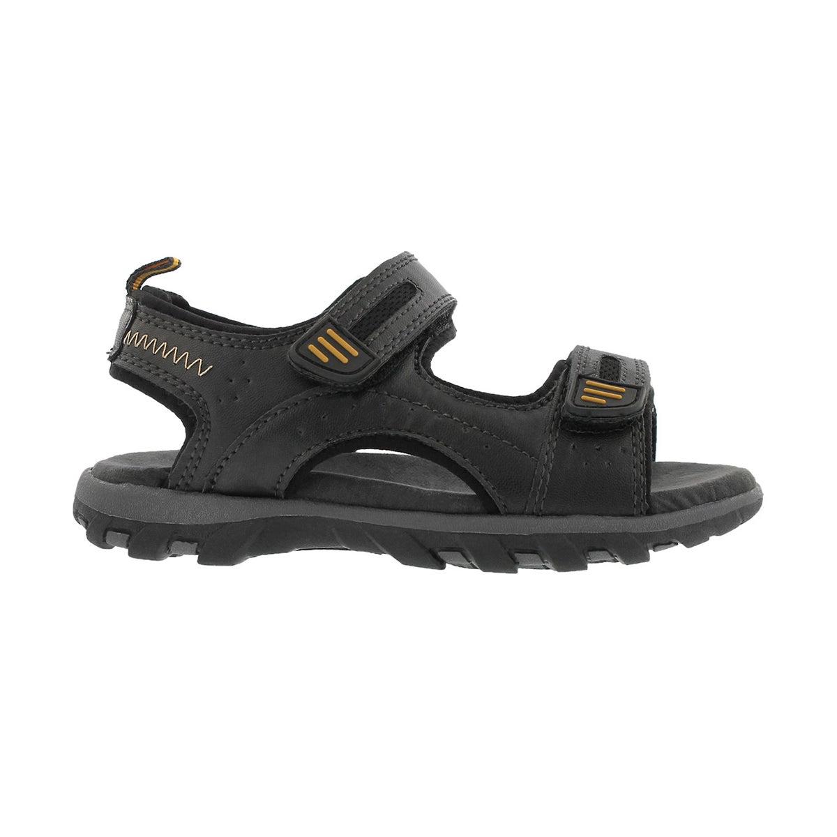Bys Emmett 2 black 2 strap sport sandal