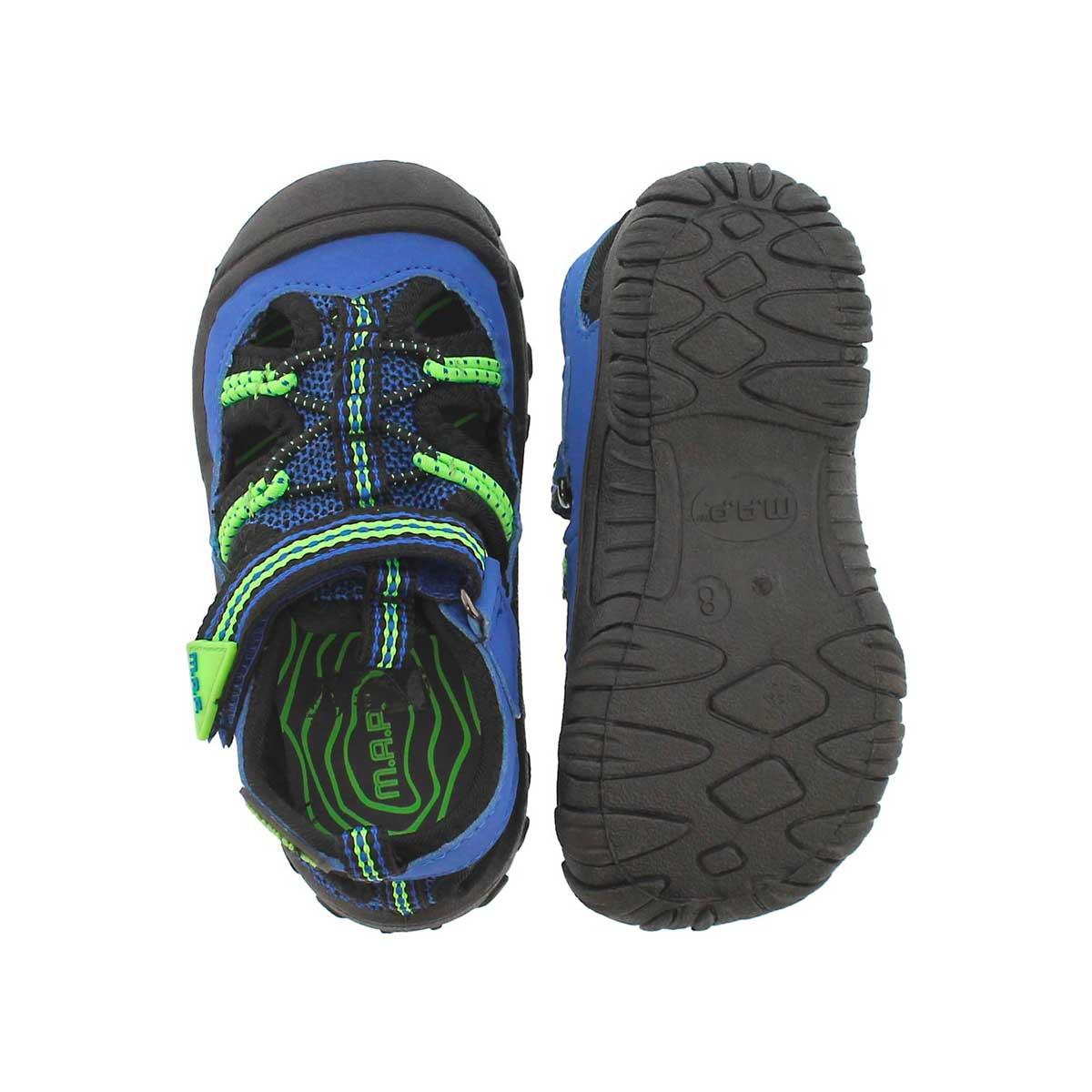 Inf-b Emmons blk/blu fisherman sandal