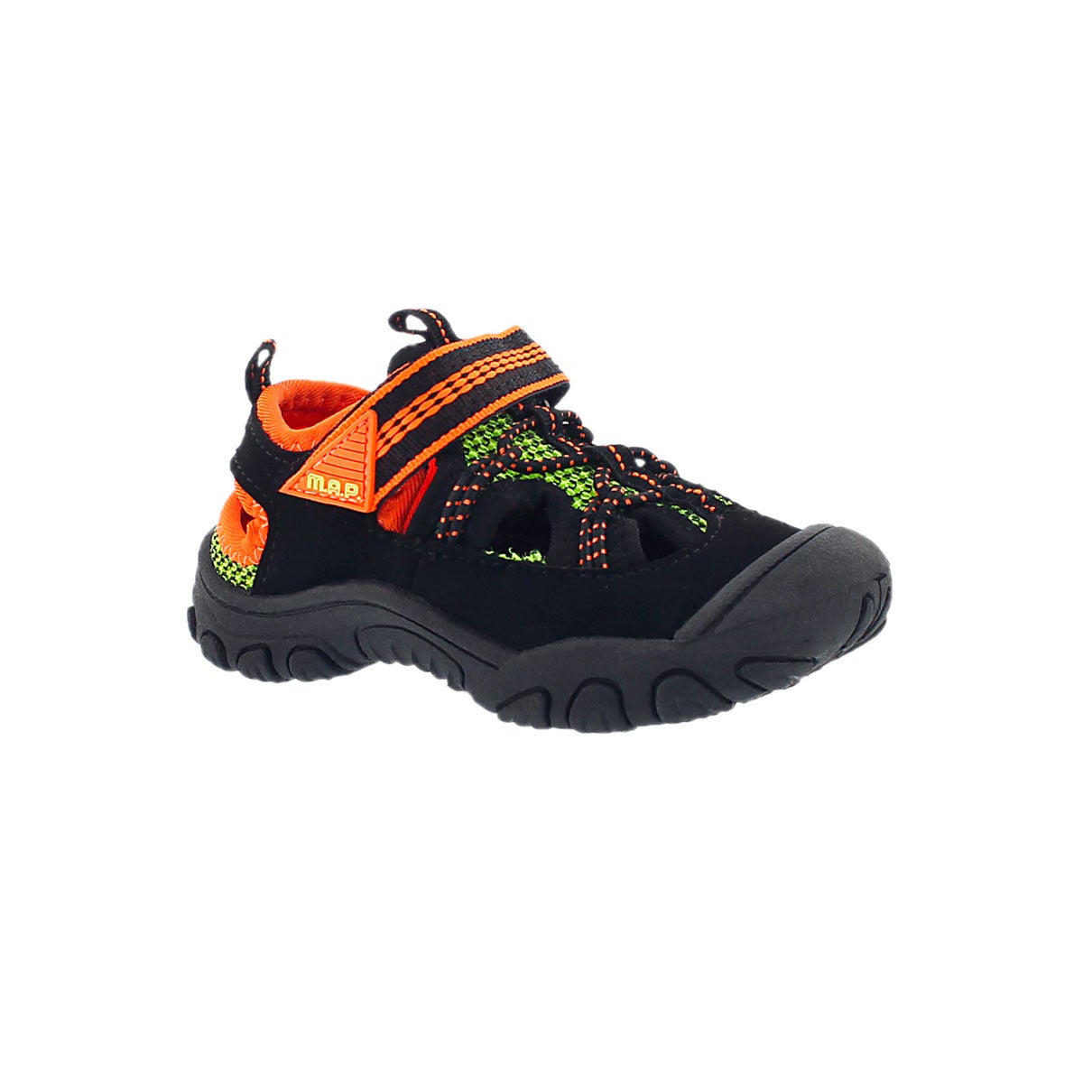 Infants' EMMONS black/orange fisherman sandals