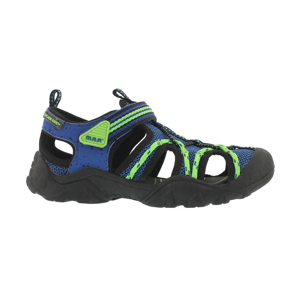 Bys Emmons blk/blu fisherman sandal