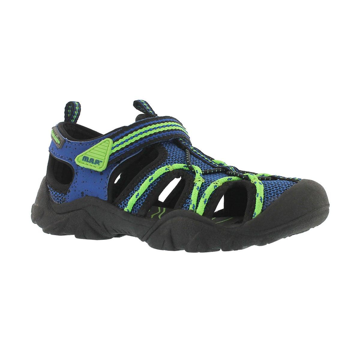 Boys' EMMONS black/blue fisherman sandals