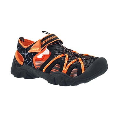 MAP Boys' EMMONS black/orange fisherman sandals