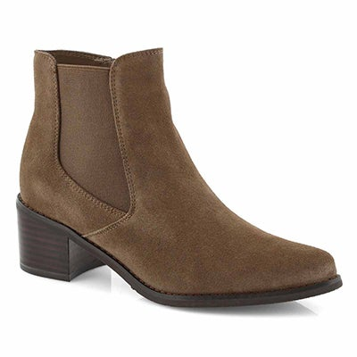 Lds Emmy taupe suede wtpf chelsea boot