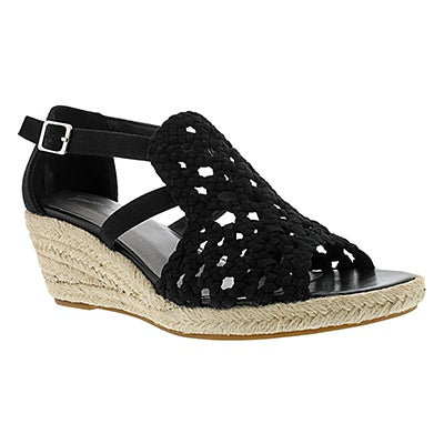 SoftMoc Women's EMMY 2 black wedge sandals
