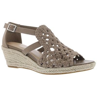 Lds Emmy 2 khaki wedge sandal