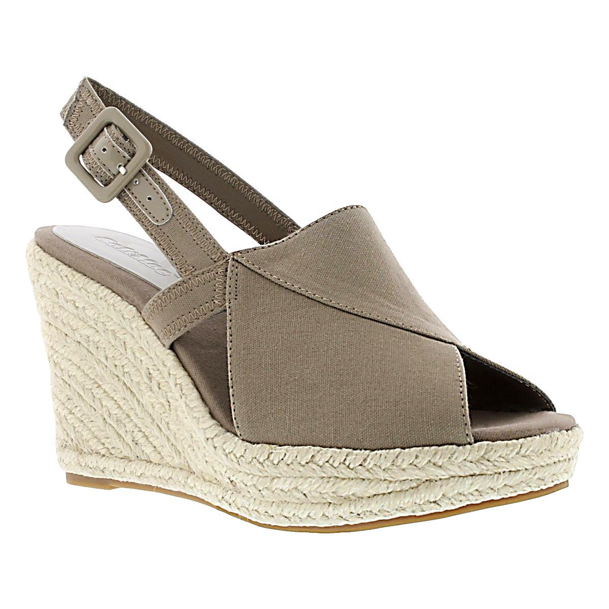 Women's ENYA beige wedge sandals