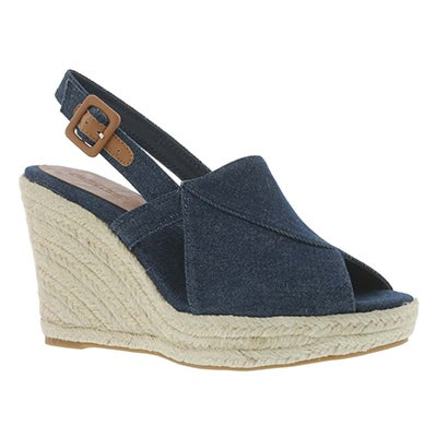 SoftMoc Women's ENYA navy wedge sandals