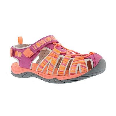 Grls Eowyn pink closed toe sandal