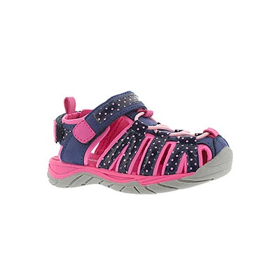 SoftMoc Infants' EOWYN navy/pink closed toe sandals