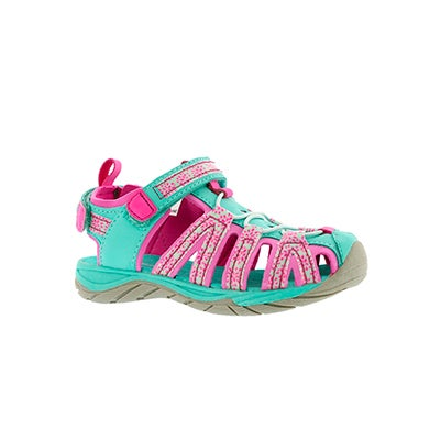 SoftMoc Infants' EOWYN 2 turquoise/pink closed toe sandals
