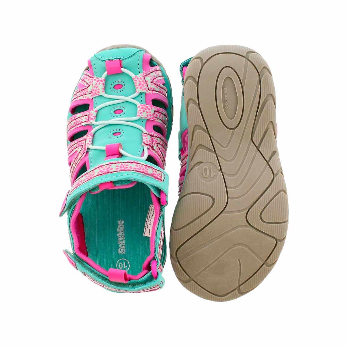 Inf Eowyn 2 turq/pnk closed toe sandal
