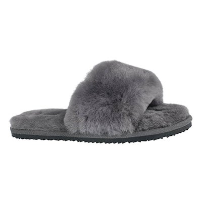 Lds Eugenie gry shearling slide slipper