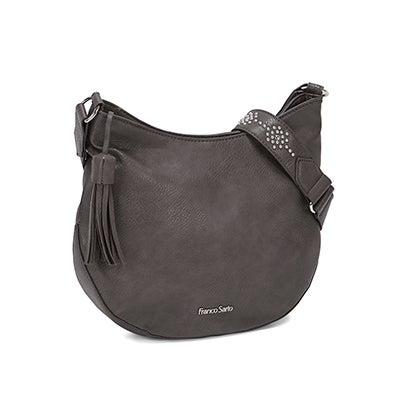 Franco Sarto Women's EVA grey cross body bag