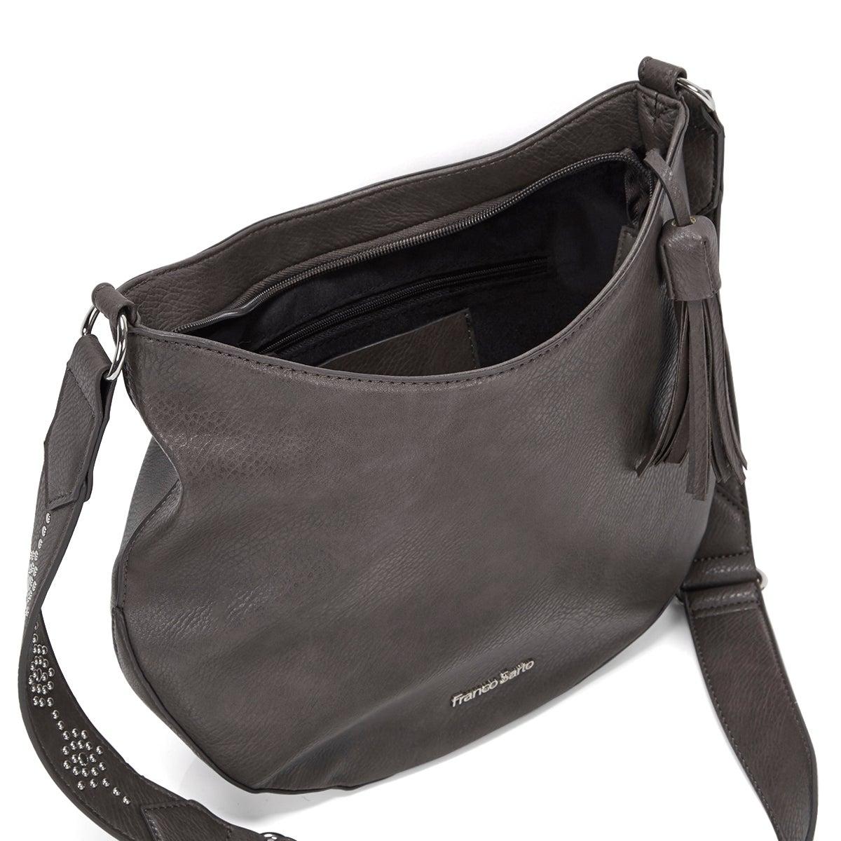 Lds Eva grey cross body bag