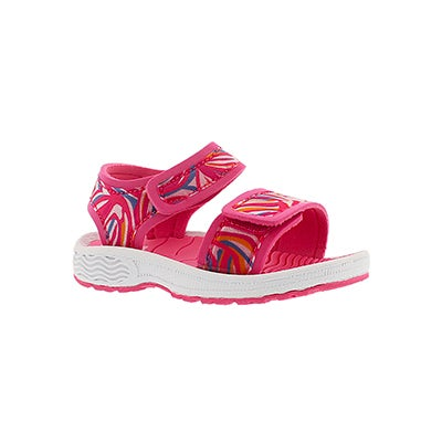 SoftMoc Infants' EVELINE pink 2 strap sport sandals