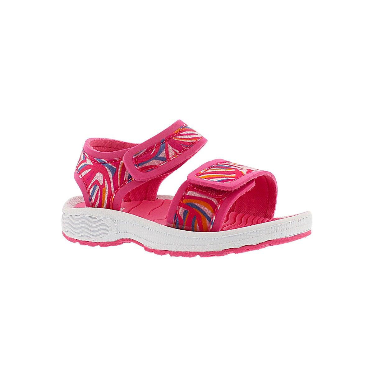 Inf Eveline pink 2 strap sport sandal