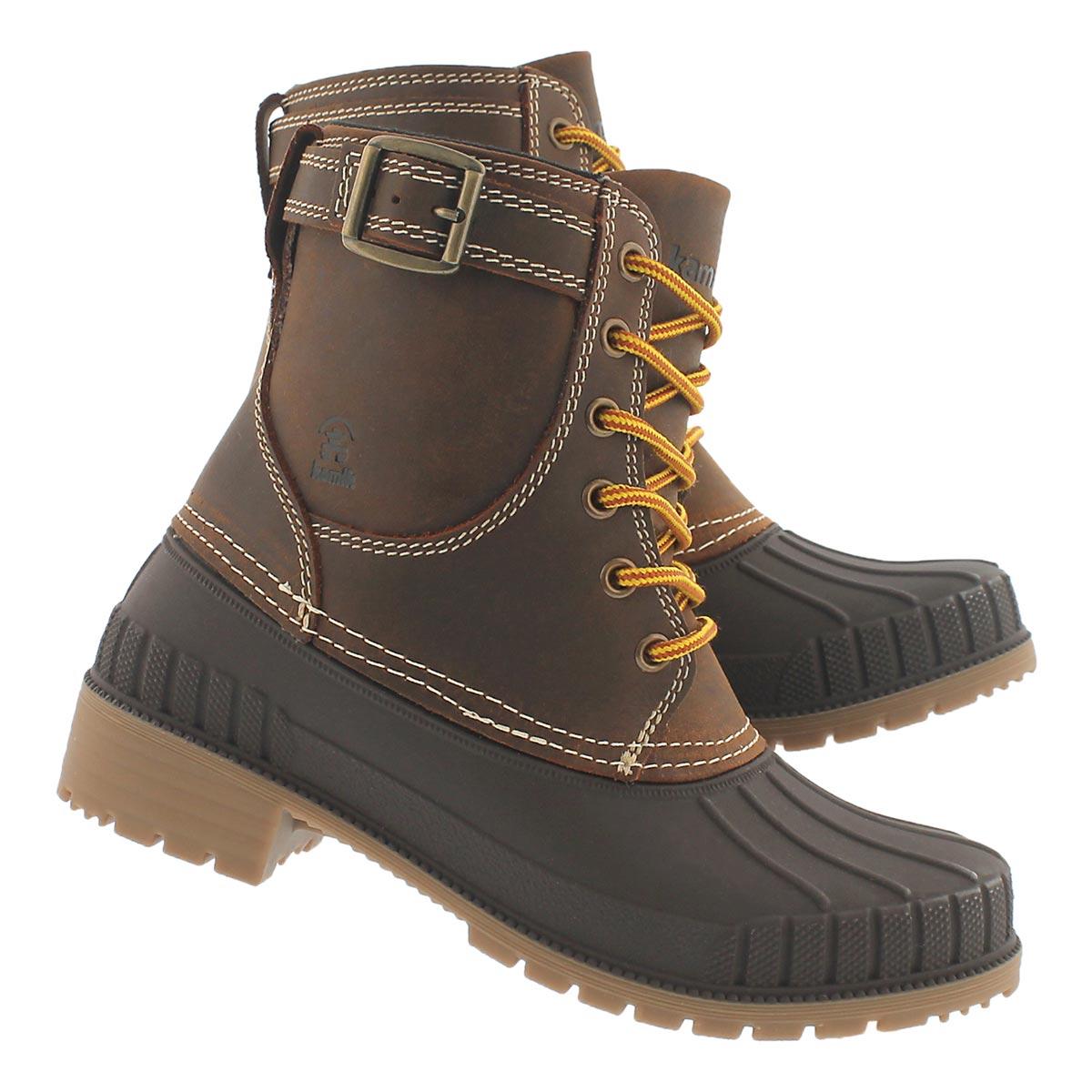 Lds Evelyn dk brn waterproof winter boot