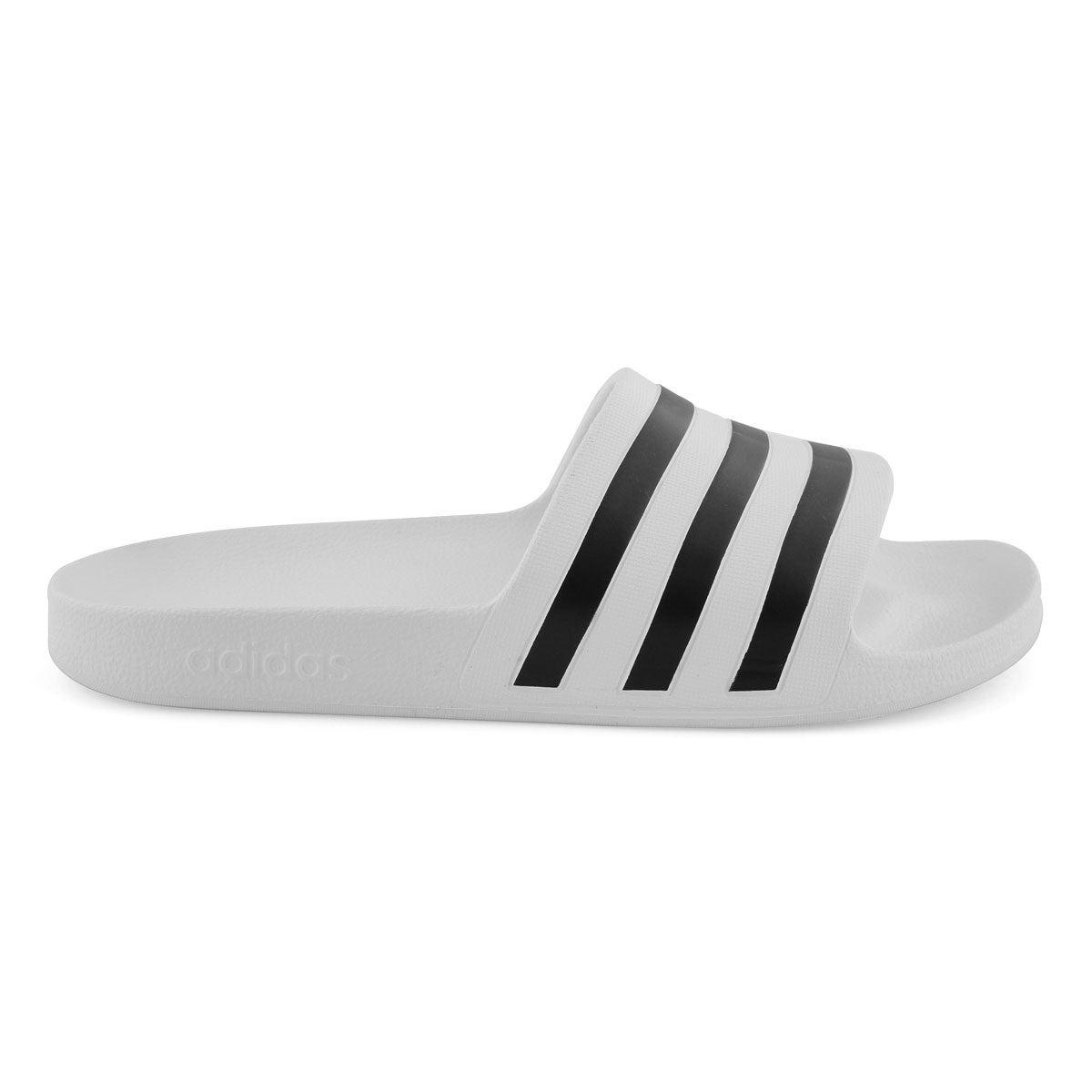 adidas Adilette Aqua Women's Slides Slippers, WhiteBlack at