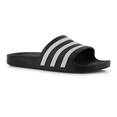 Mns Adilette Aqua blk/wht slide sandal