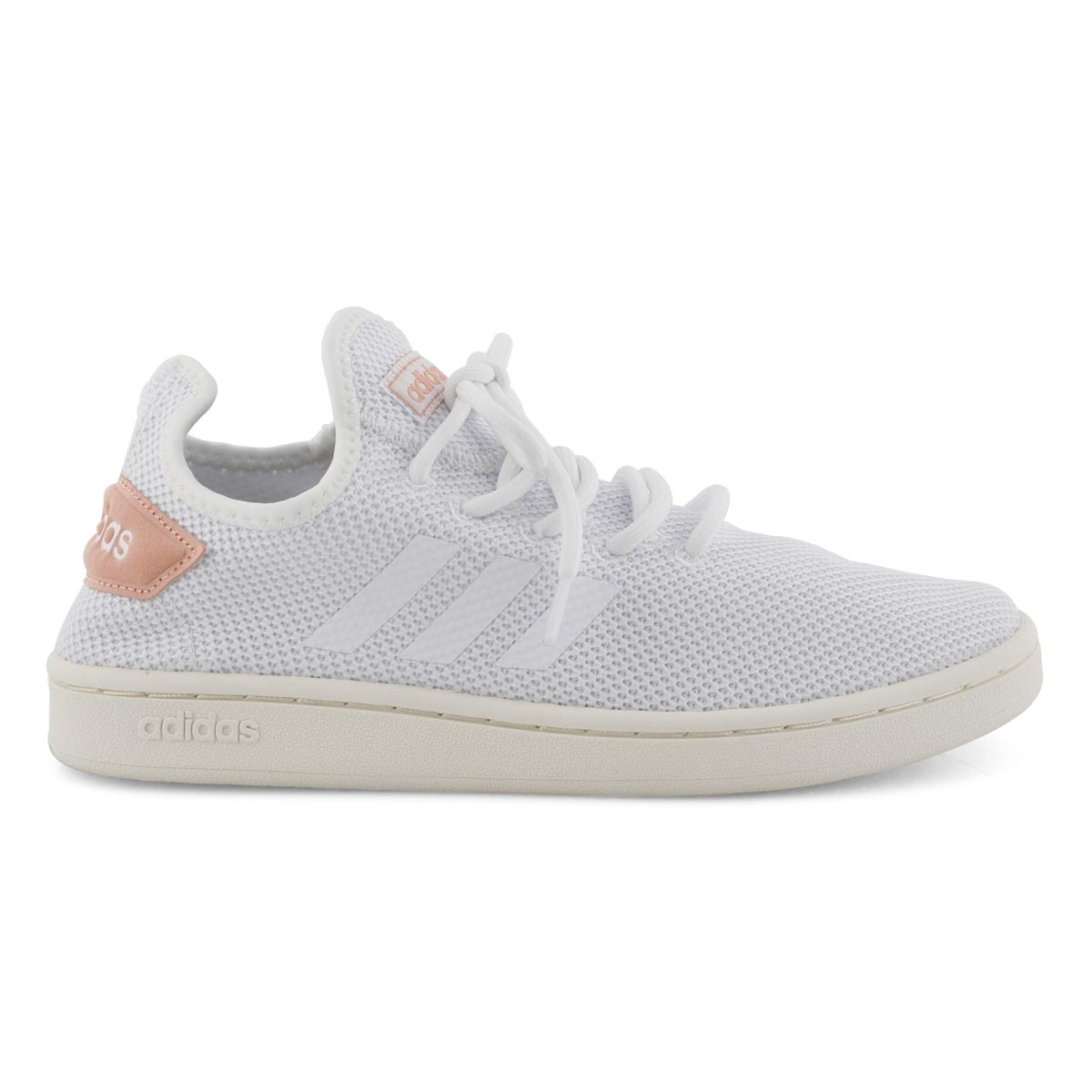 Lds Court Adapt wht/pnk running shoe