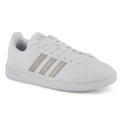 Lds Grand Court wht/platinum sneaker