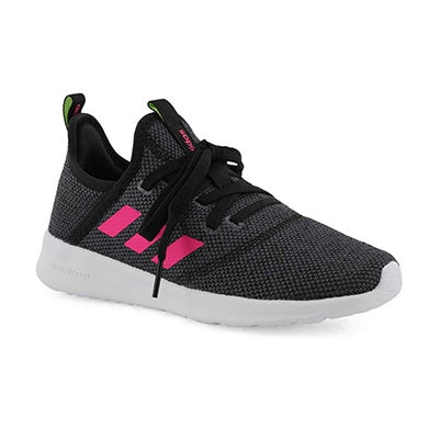 Grls Cloudfoam Pure K black/pink runners