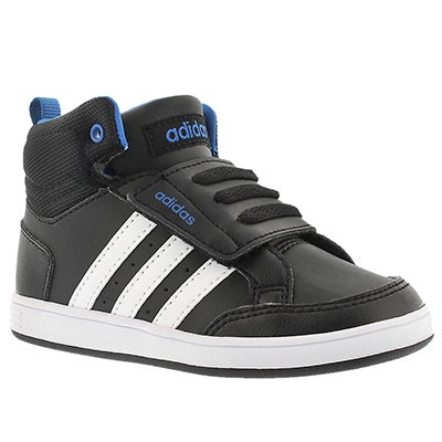 Infs Hoops Mid blk hook & loop sneaker