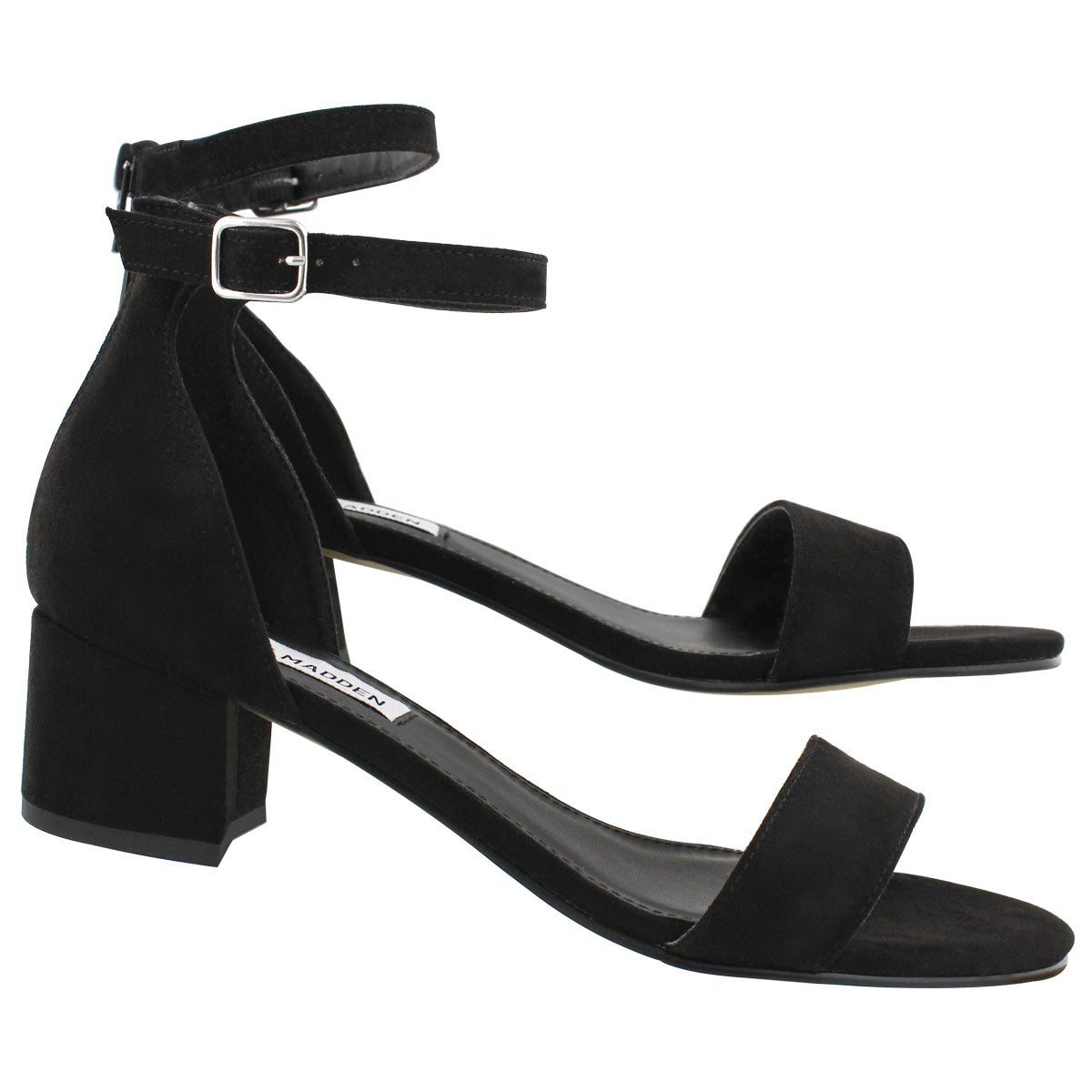 Lds Fabiana black ankle strap dress sndl