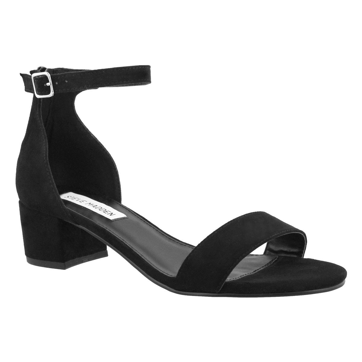 Women's FABIANA black ankle strap dress sandals