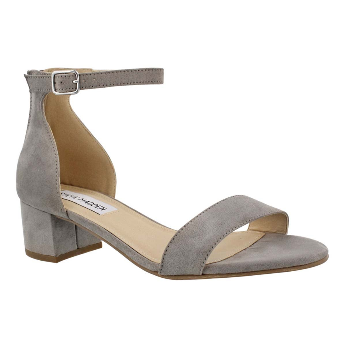Lds Fabiana grey ankle strap dress sndl