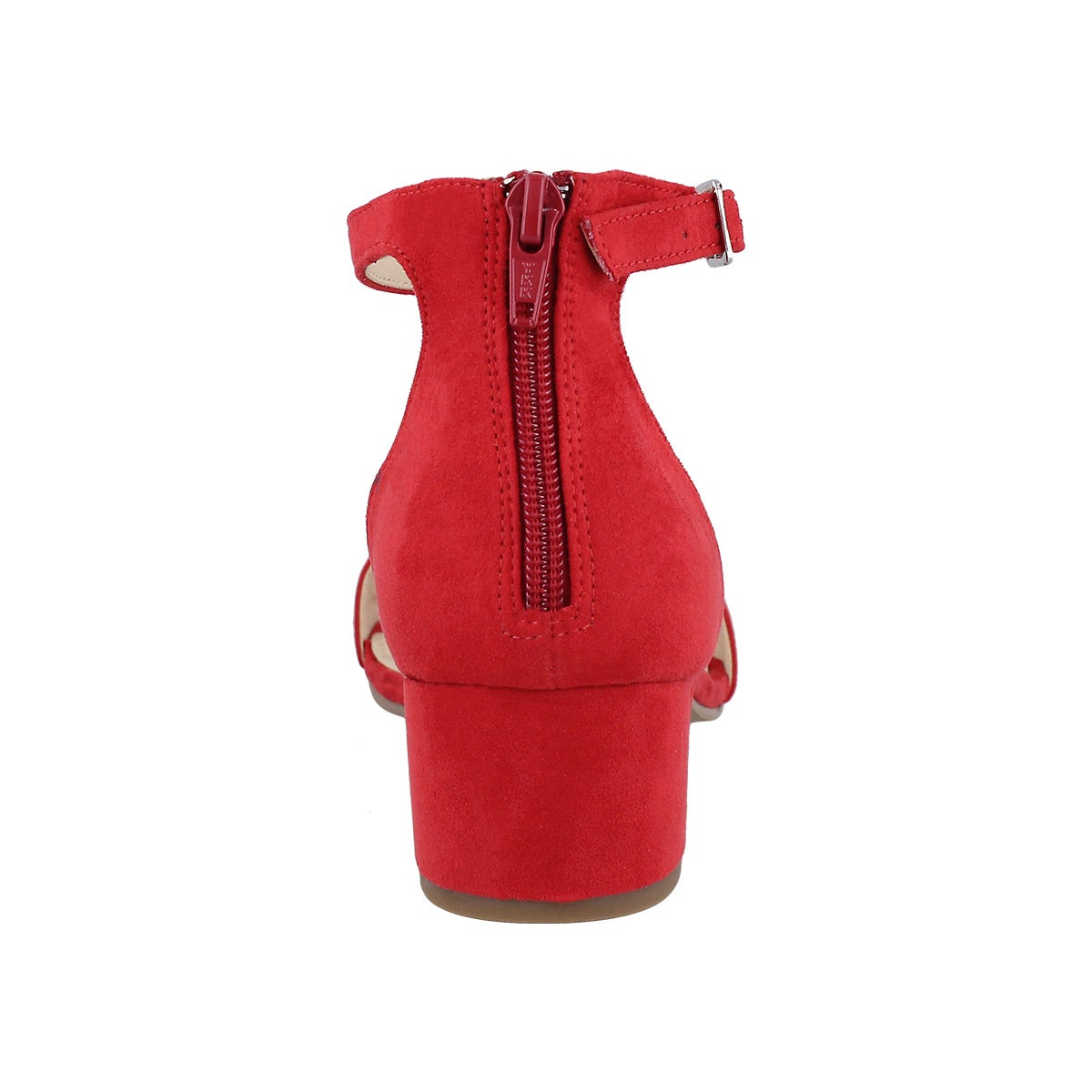 Lds Fabiana red ankle strap dress sndl