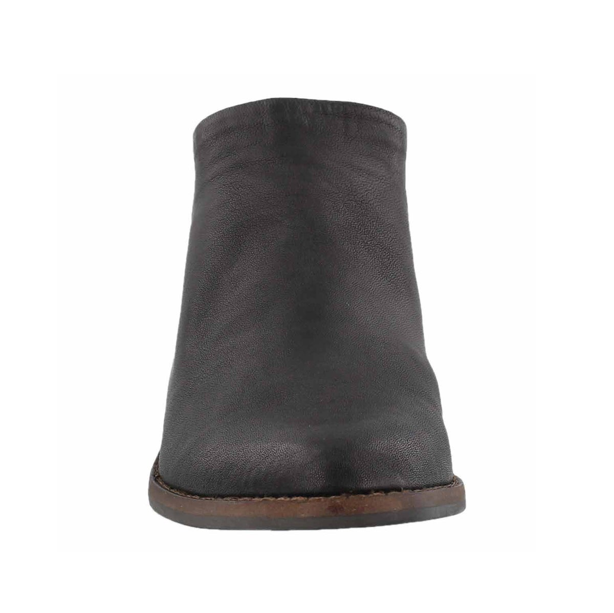 Lds Fai black zip up low casual bootie
