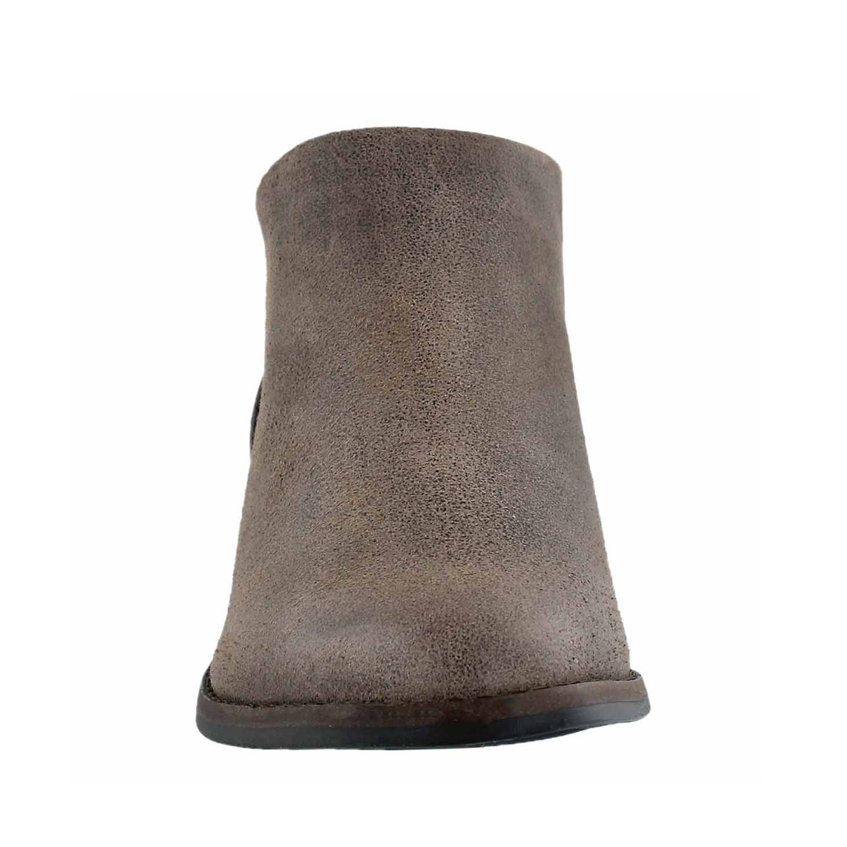 Lds Fai brindle zip up low casual bootie