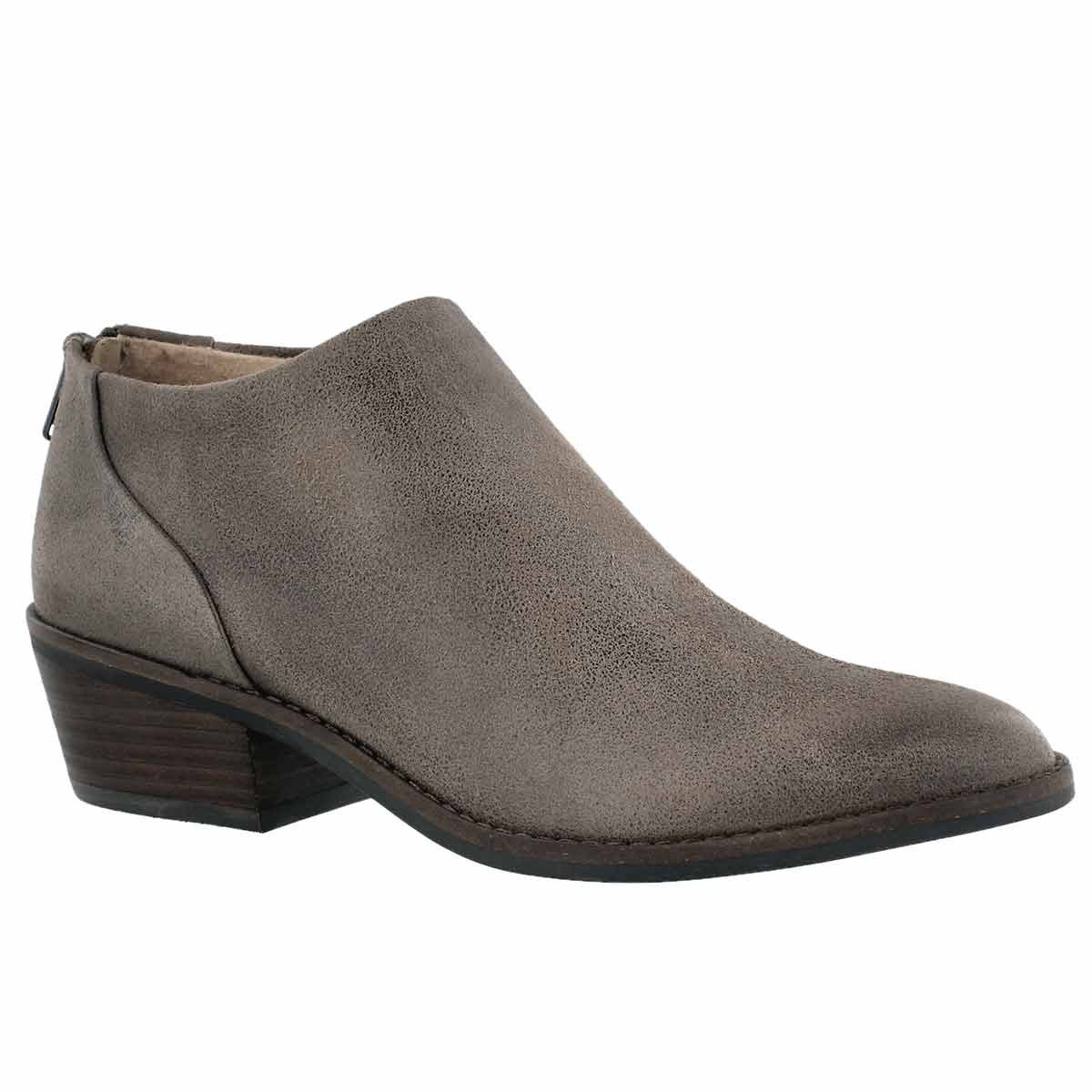 Lds Fai brindle zip up low casual bootie
