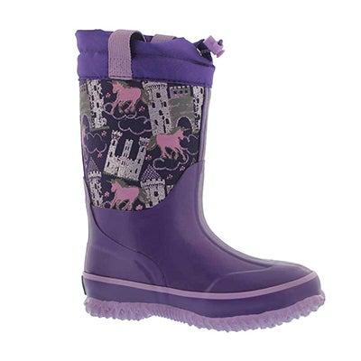 Grls Fairytale ppl pullon wp winter boot