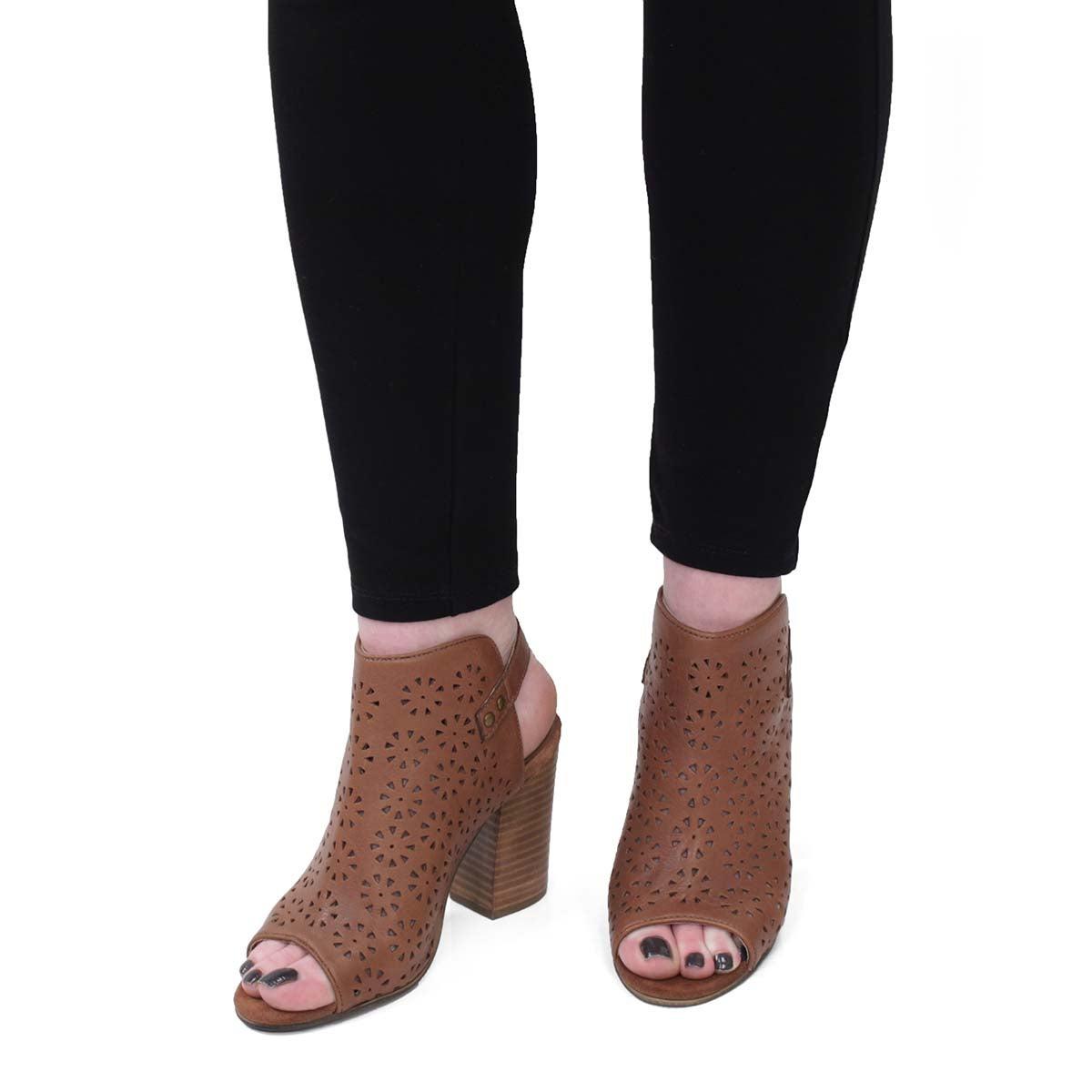 Lds Fania cognac peep toe dress sandal