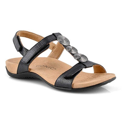 Lds Farra black arch support sandal