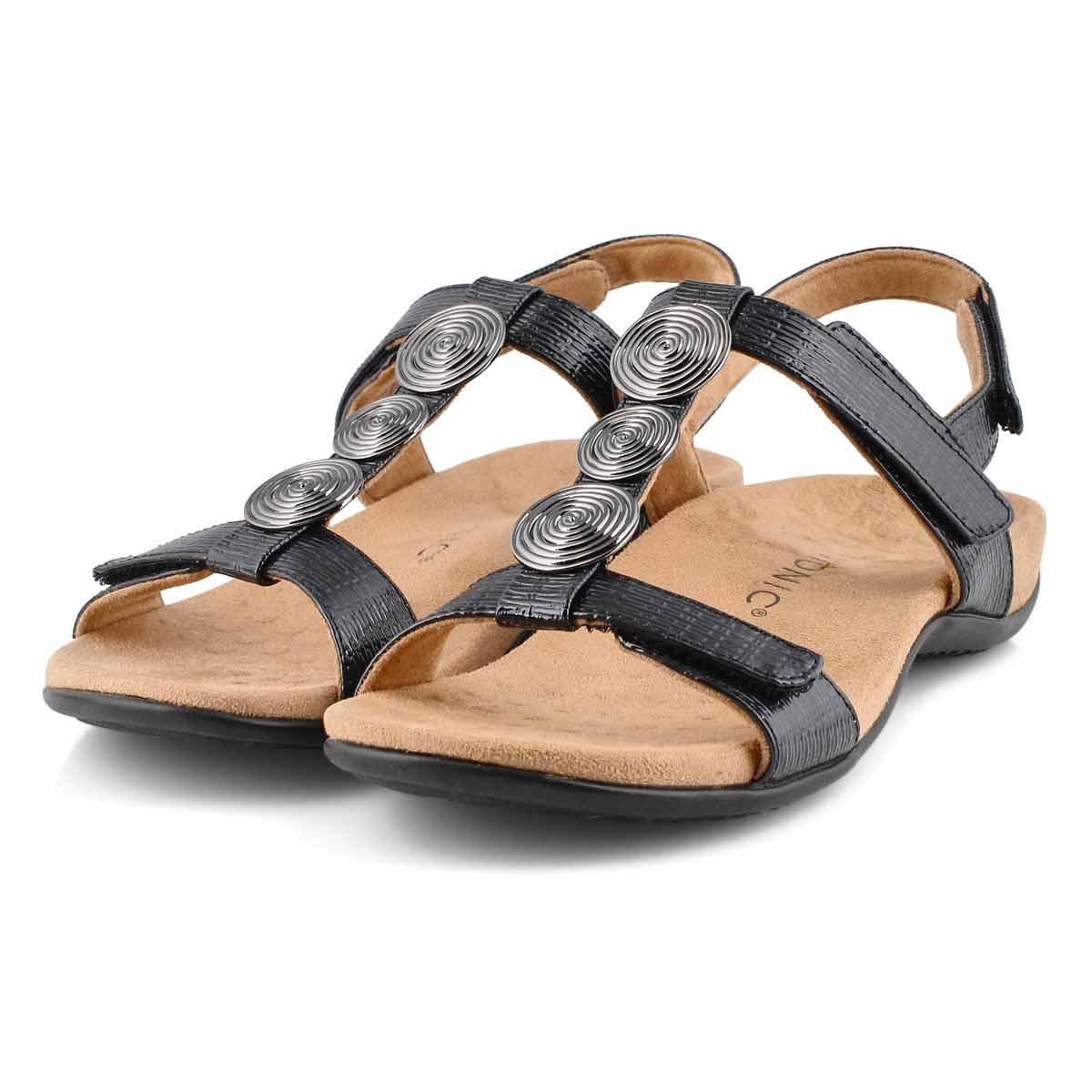 Lds Farra black arch support sandal