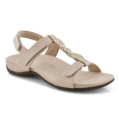 Lds Farra nude arch support sandal