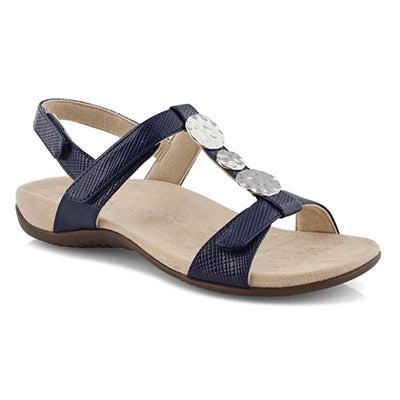 Lds Farra navy arch support sandal