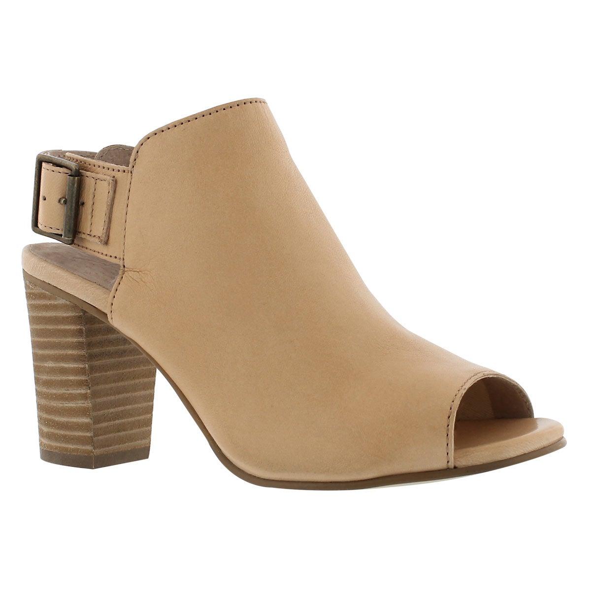 Women's FAYE beige peep toe dress sandals