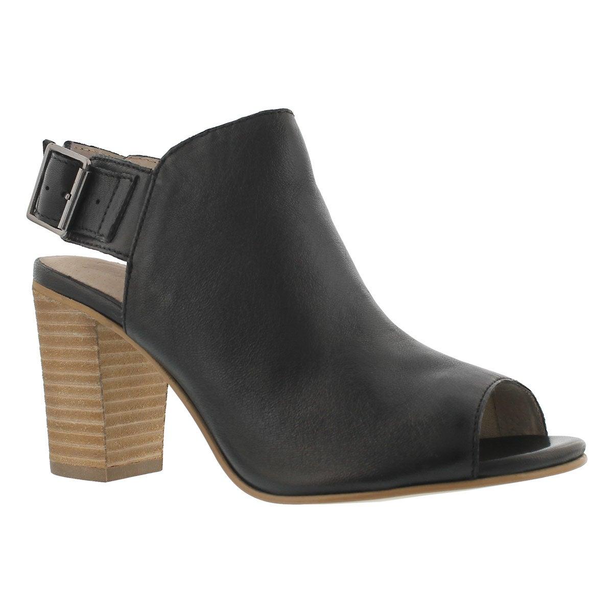 Women's FAYE black peep toe dress sandals