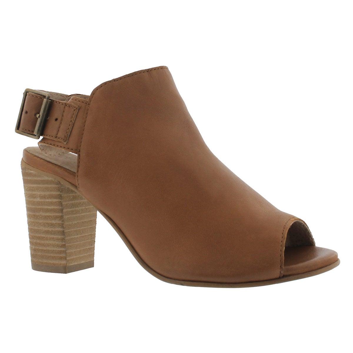 Women's FAYE tobacco peep toe dress sandals