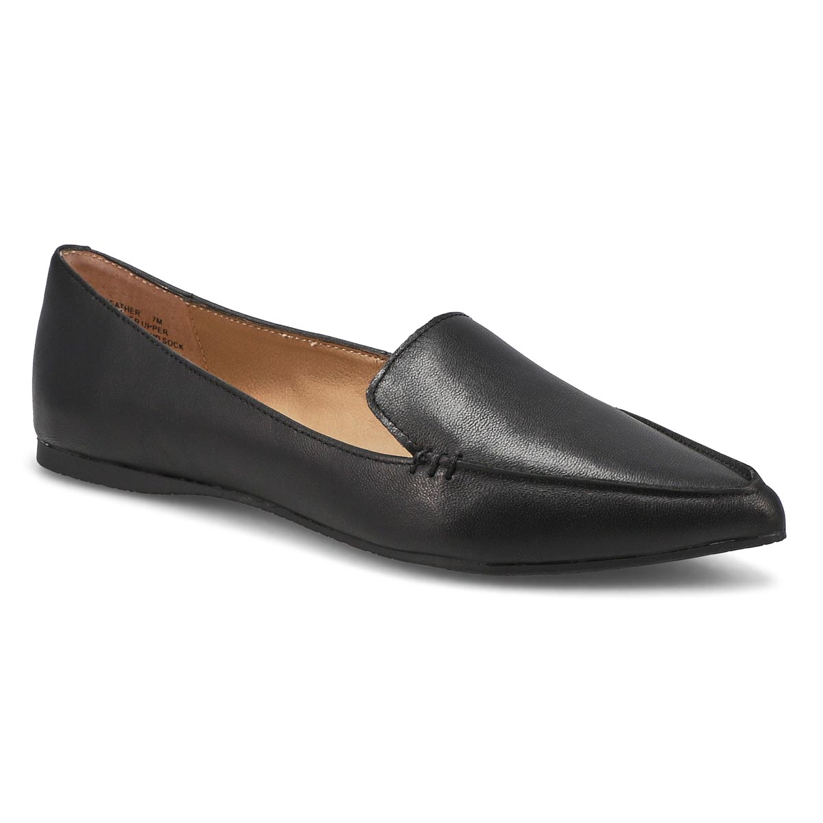 6213d6820d8 Women's FEATHER black leather casual flats