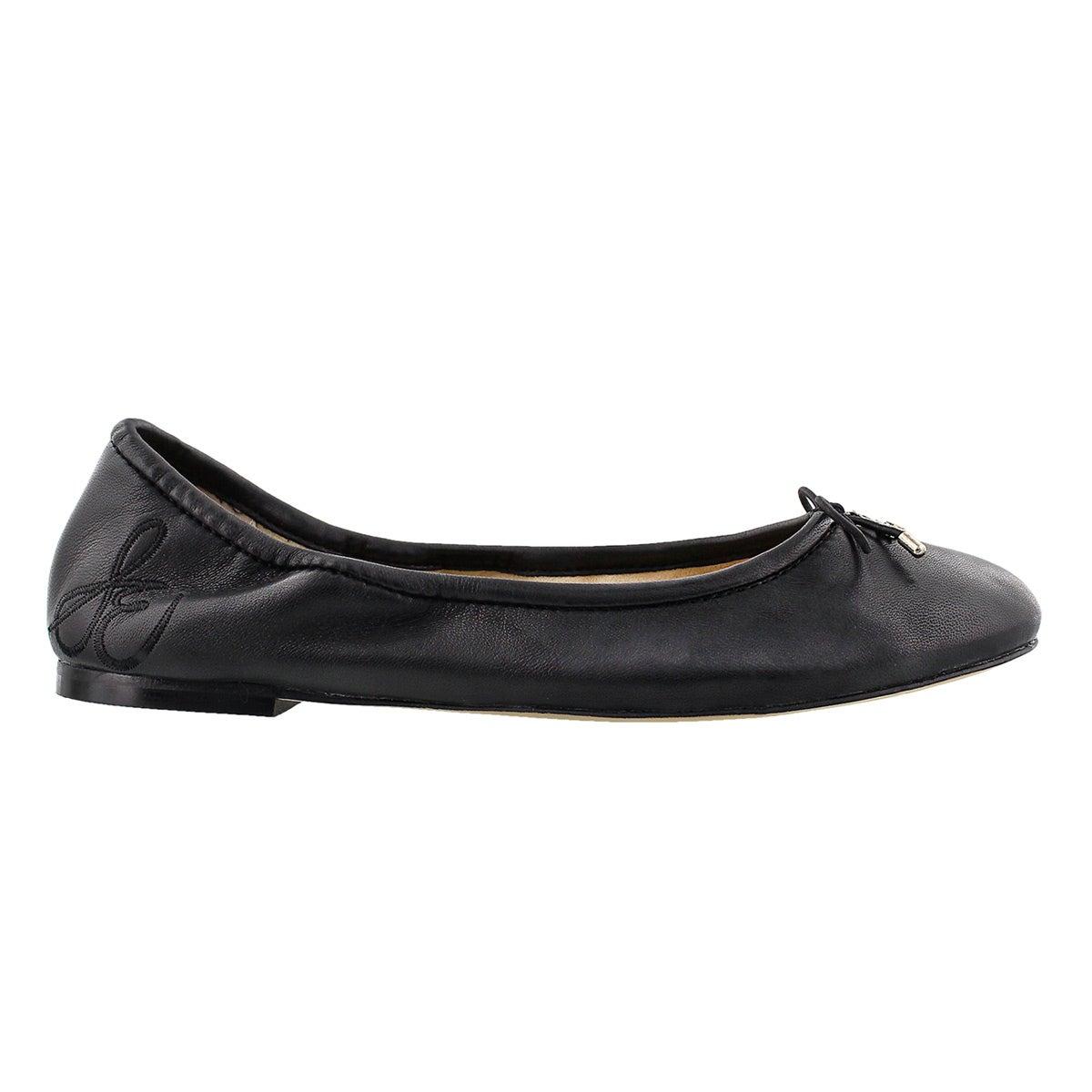 Lds Felicia black ballerina dress flat