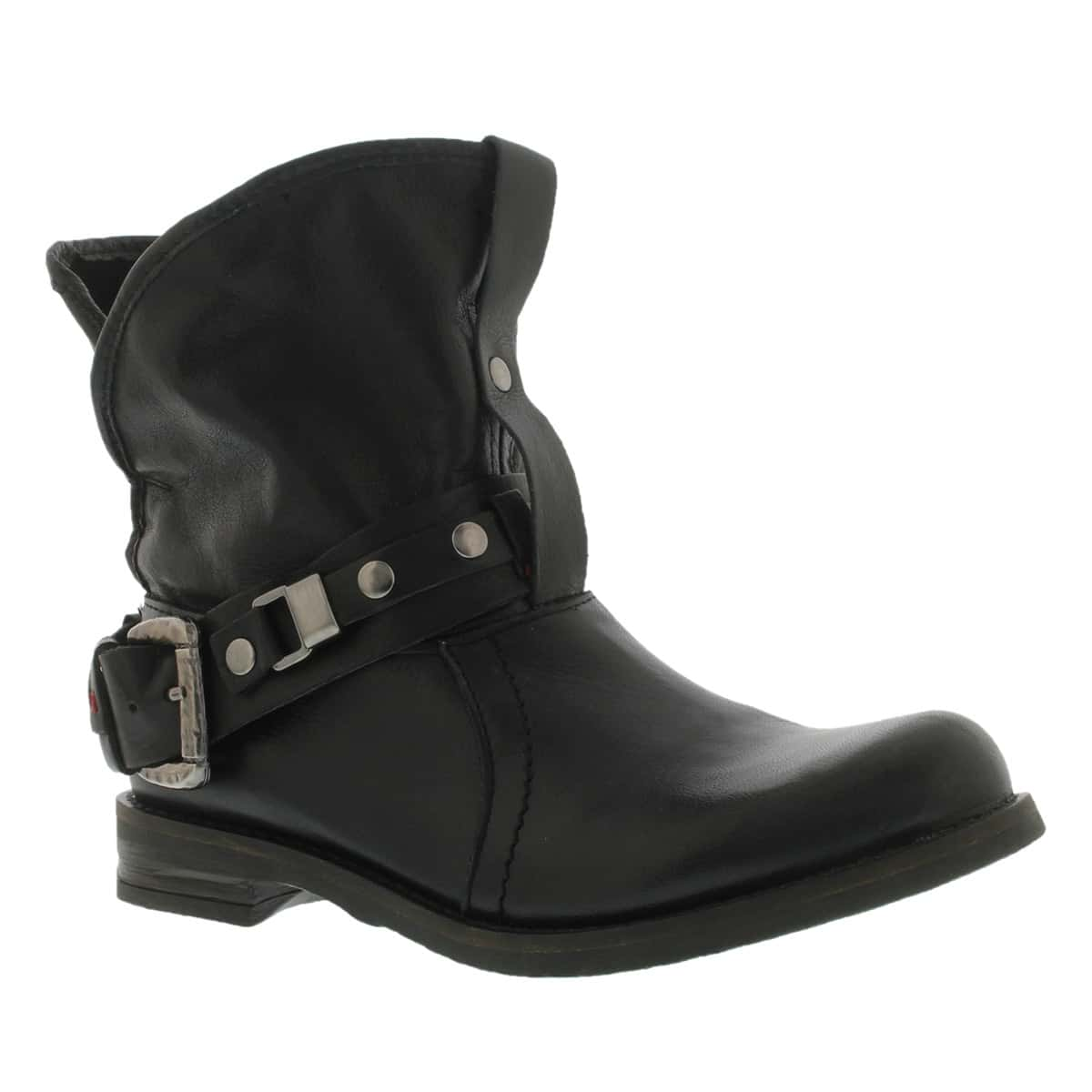 Botte cuir noir FERGY, fem