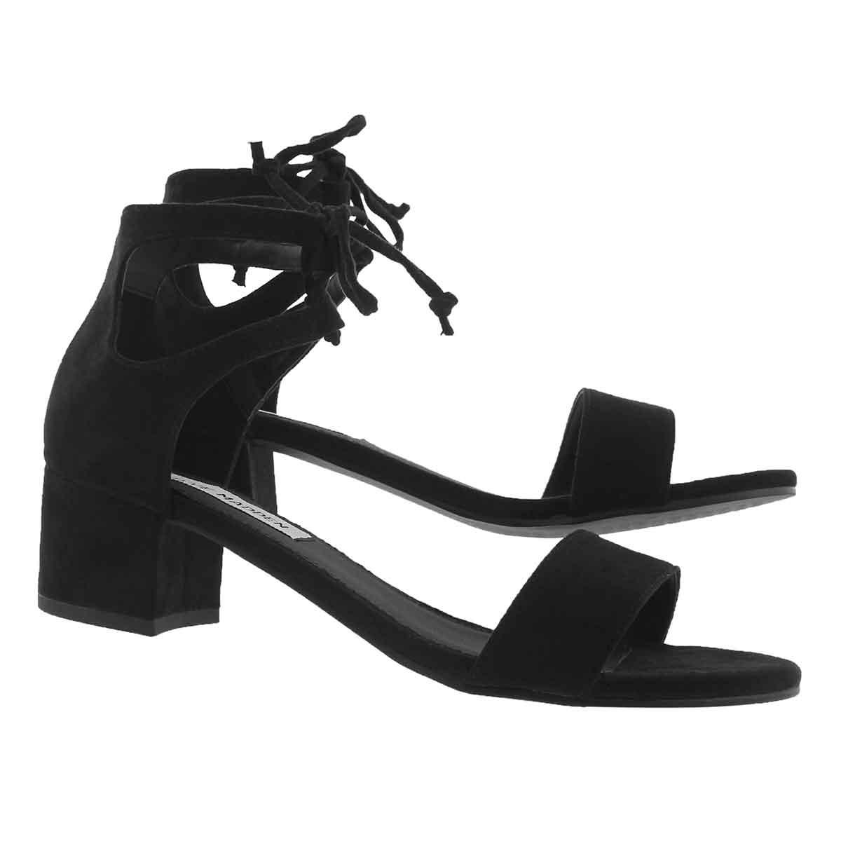 Lds Fiesta black ankle strap dress sndl
